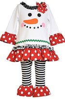 Bonnie Baby Baby-Girls Snowman Appliqued Knit Legging Set
