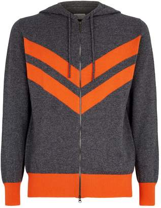 Johnstons of Elgin Stripe Cashmere Hoodie