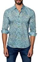 Jared Lang Men's Speckle Print Sport Shirt