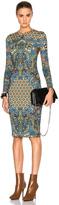 Givenchy Scarf Motif Shiny Jersey Dress