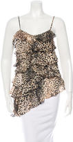 Rachel Zoe Silk Cheetah Print Top