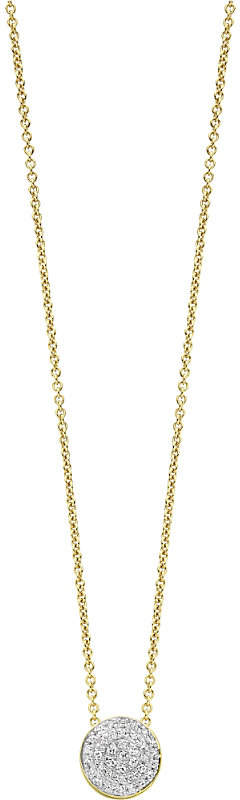 Monica Vinader Ava 18ct yellow gold-plated vermeil and diamond button necklace