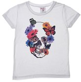 Flowers by Zoe Girl's Flower Skull T-Shirt