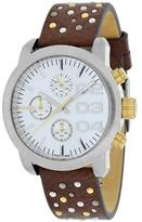 Diesel DZ5433 Women's Flare Brown Leather Watch with Chronograph