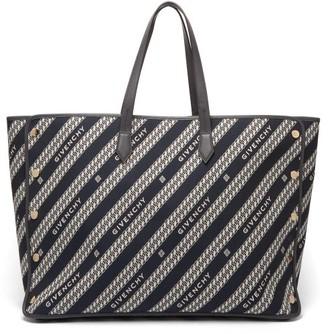 Givenchy Bond Large Logo-jacquard Canvas And Leather Bag - Blue