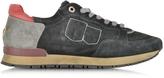 D'Acquasparta D'Acquasparta Olimpic Black Suede Men's Sneaker