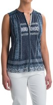Lucky Brand Border Print Shirt - Sleeveless (For Women)