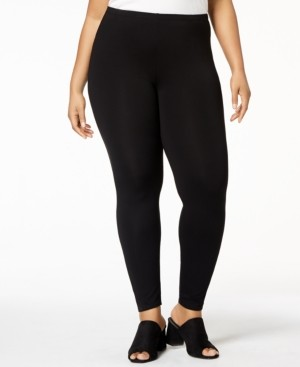 Eileen Fisher System Plus Size Jersey Knit Ankle Leggings