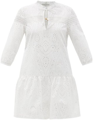 Heidi Klein Solta Broderie-anglaise Cotton Mini Dress - White