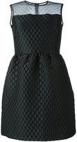 RED Valentino sheer panel dress - women - Polyamide/Polyester/Acetate - 46