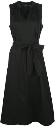 Natori tie-waist sleeveless A-line dress
