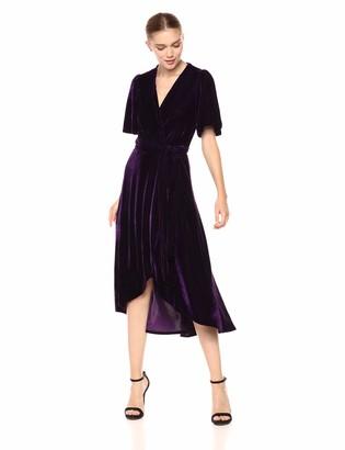 Donna Morgan Women's Fleyr Wrap Puff Sleeve Dress