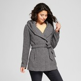 Xhilaration Women's Tweed Faux Wool Wrap Juniors') Gray