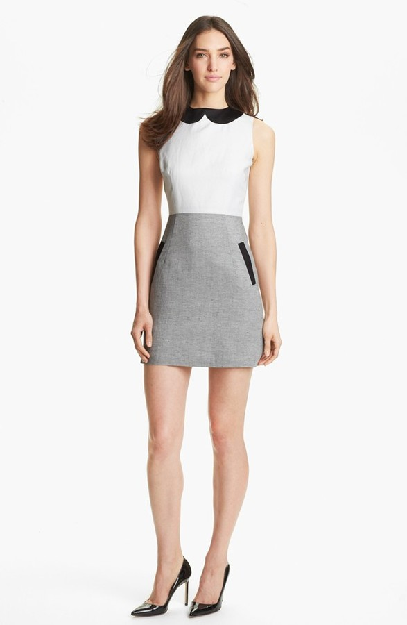 Milly 'Amanda' Woven Sheath Dress