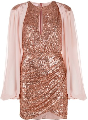 Giamba Sequin Embroidred Dress