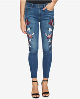 CeCe Embroidered Skinny Jeans