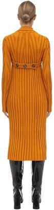 Proenza Schouler Viscose Blend Rib Knit Midi Dress