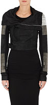 Rick Owens Women's Beaded Blistered Leather Biker Jacket