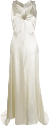 Philosophy di Lorenzo Serafini V-Neck Floor Length Gown