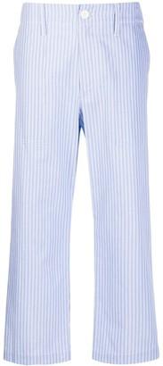 Jejia Vertical-Stripe Cropped Trousers