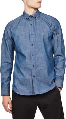 G Star Raw Straight-Fit Stalt Long-Sleeve Shirt
