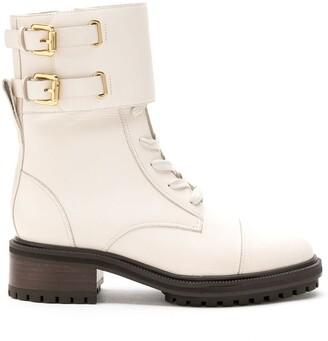 Sarah Chofakian leather Sarah combat boots