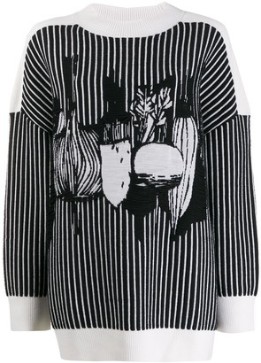 Henrik Vibskov Intarsia Knit Striped Jumper