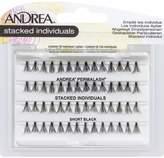 Andrea Eyelashes Stacked Individuals Knot-Free Short Black