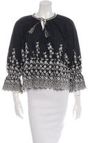 Ulla Johnson Embroidered Peasant Blouse w/ Tags