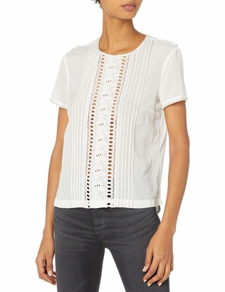 French Connection Women's Violet Cotton Top