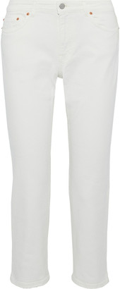 Acne Studios Patti Cropped Mid-rise Slim-leg Jeans