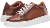 Eleventy Burnished Leather Low-Top Cup Sole Sneaker (Camel) Men's Shoes