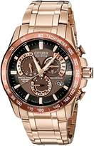 Citizen Eco-Drive Men's AT4106-52X Perpetual Chrono A-T Rose Gold-Tone Watch