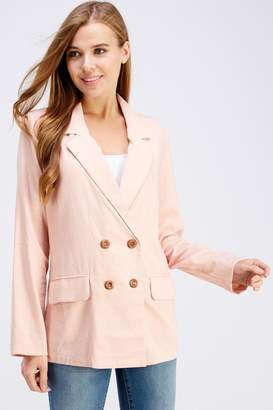 Cotton Candy Pink Linen Blazer