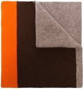 Ganni Colour-Block Wool Scarf