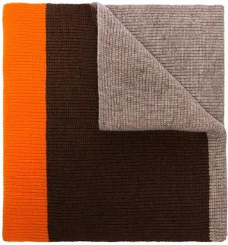 Ganni Colour-Block Wool Scarf
