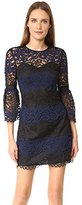 Cynthia Rowley Women's Wavy Lace Dress with Bell Sleeves