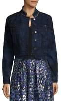 Elie Tahari Esperanza Denim Jacket