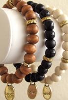 Bijouterie Jewelry Bijouterie Black Wood Love Charm Bracelet