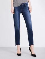 Paige Skyline Ankle stepped-hem skinny jeans