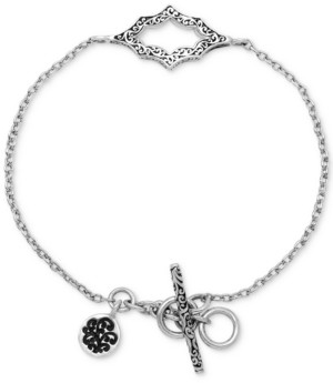 Lois Hill Filigree Cut-Out Toggle Bracelet in Sterling Silver