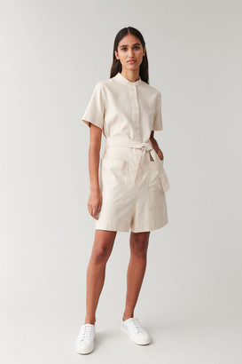 Cos Cotton Romper With Pockets
