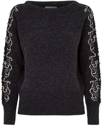Sandro Jewel Embellished Sweater