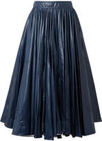 Calvin Klein Pleated Shell Midi Skirt - Storm blue
