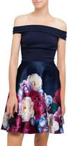 Ted Baker Nersi Blushing Bouquet Bardot Dress