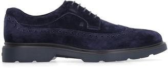 Hogan Route Suede Brogue British Lace-up Shoes