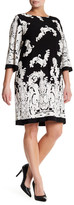 Sandra Darren Jersey Shift Print Dress (Plus Size)