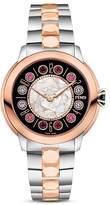Fendi IShine Rotating Gemstones Two-Tone Watch, 33mm