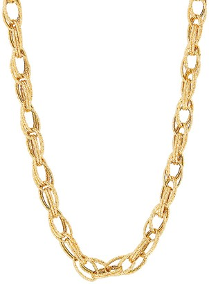 Saks Fifth Avenue Made In Italy 14K Yellow Gold Interlock Link Chain Necklace/20""
