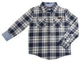 7 For All Mankind Long Sleeve Plaid Flannel Shirt (Toddler Boys & Little Boys)